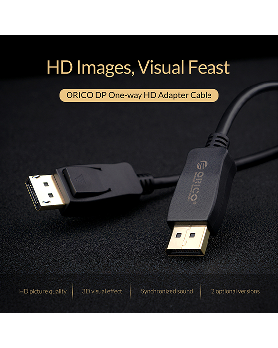 ORICO DP (M) to HDMI (M) HD Adapter Cable (2M)